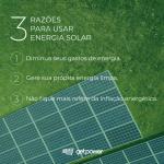 Paineis solares fixados no solo de um gramado